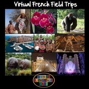 Virtual French Field Trips - 75 Video Clips. Travel with your students to see each Francophone country Nothing like a virtual field trip!