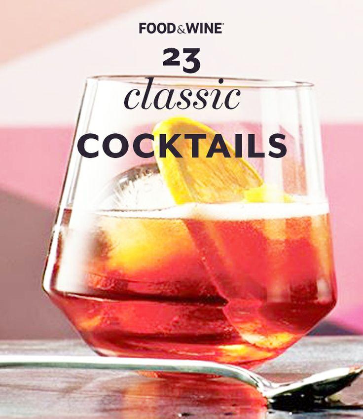 23 Classic Cocktails