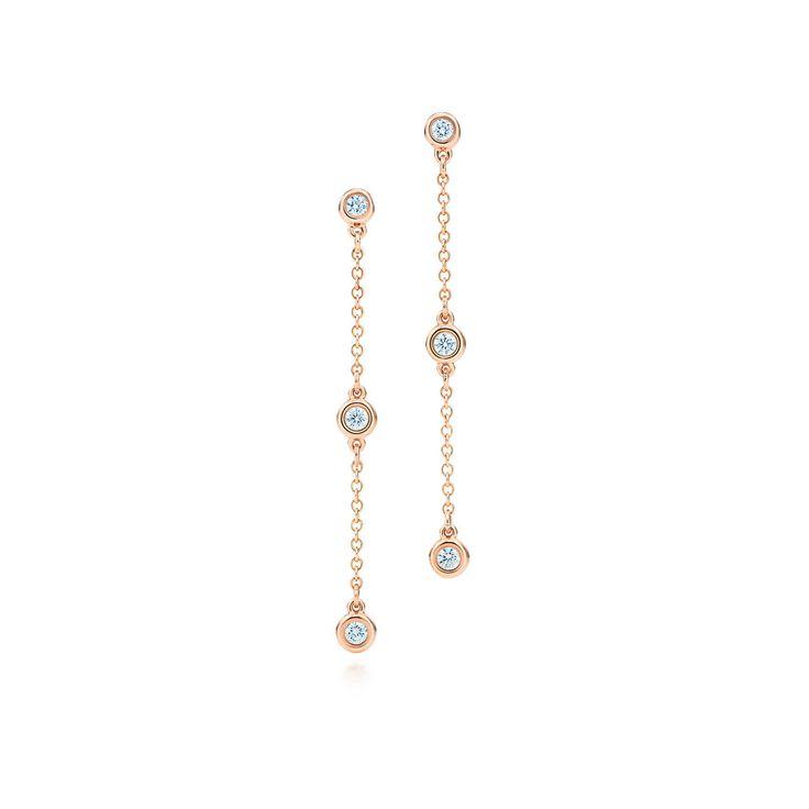 Elsa Peretti™: Brincos de gota Diamonds by the Yard™