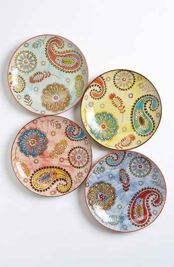 Hand Painted Paisley Plates (Set of 4) | Nordstrom