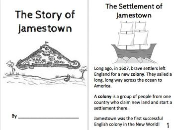 Jamestown, Christopher Newport, Pocahontas, Powhatan Booklet. Great for those new Virginia standards!