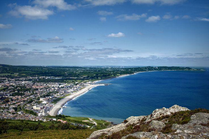 Irish sea   the sea view from Bray Head, Ireland