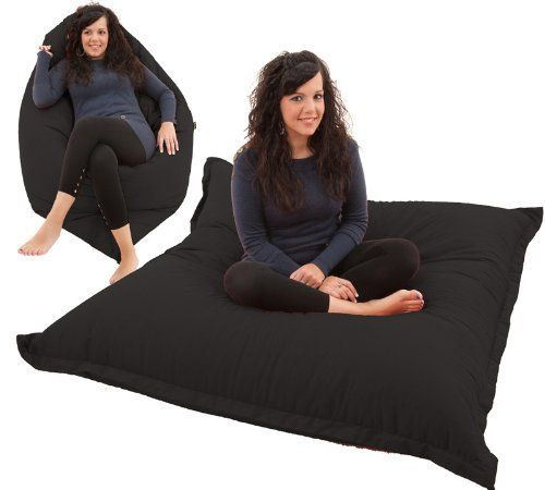 Giant Bean Bag Floor Cushion BeanBag Chair in BLACK Cotton by GILDA Ltd, http://www.amazon.co.uk/dp/B00477FS0E/ref=cm_sw_r_pi_dp_xylatb0H92ZVA