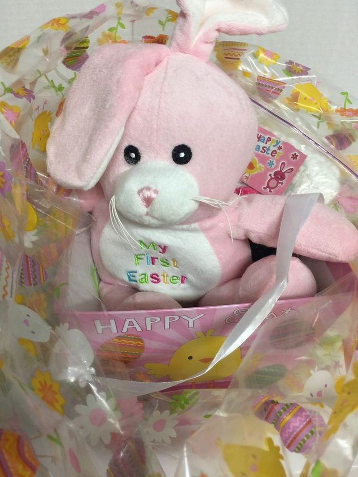 39 best easter baskets on ebay images on pinterest easter my first easter basket infant girl pink plush bunny crochet hat negle Image collections