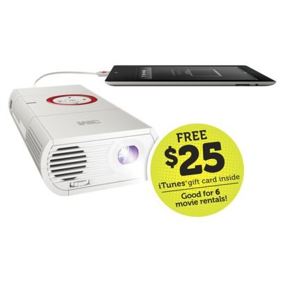 3M MP225 Mobile Projector - White  This is the project you can afford for those outdoor/backyard movie parties!