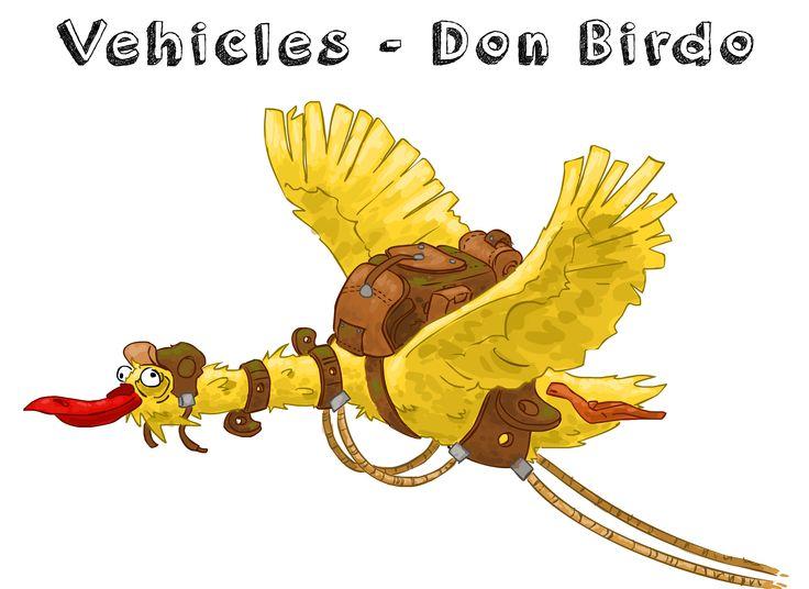 Don Birdo vehicle creature