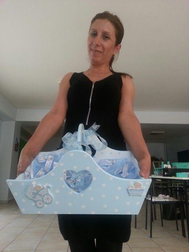 Bunlar da Bebek Şekerlerimiz :) #baby #shower #bebek #seker #itsaboy #ahsap #boyama #wooden #sepet by @ilknur arslan :)