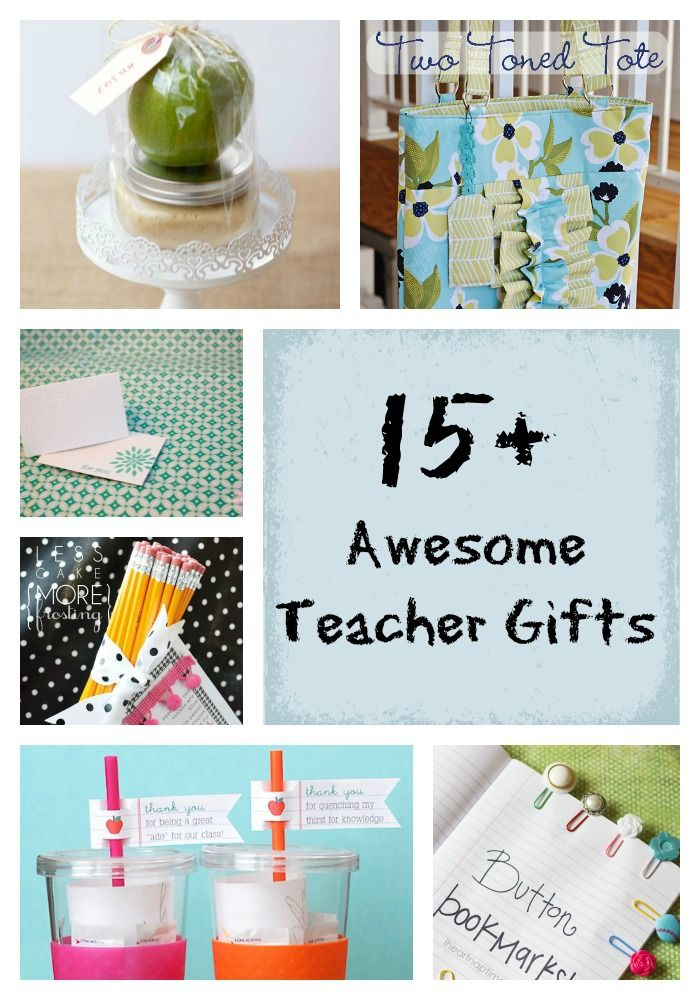 15 super cute and useful teacher gift gdeas! #teacherappreciation #handmade