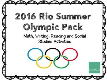 108 pages of activities to learn about the 2016 Summer Olympics in Rio de Janeiro.-Olympic KWL-2 word searches-Olympic medal graphing using tallies activity-Rio de Janeiro map and fill in the blank-Flag comparison-Roll to Gold Dice Game-Olympic Reading Challenge-Compound Word Activity/Center-Measure the Jump measuring math activity-6 Olympic themed addition and subtraction sheets-10 Olympic story problems (editable) -3 Olympic themed graphing worksheets-7 writing prompts-My Favorite…