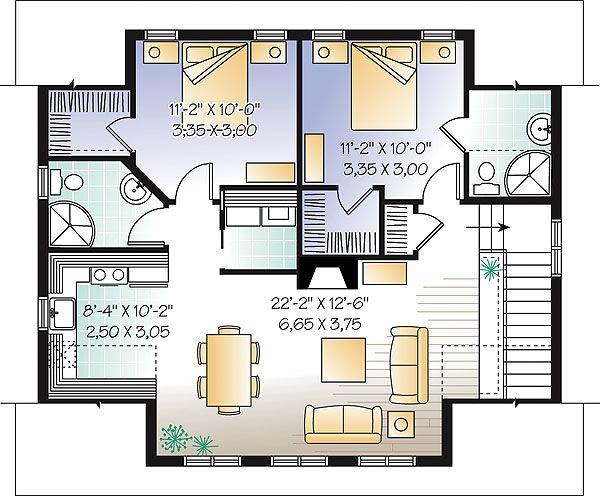 Les 7 meilleures images à propos de Small house plans sur Pinterest - plan maison avec appartement