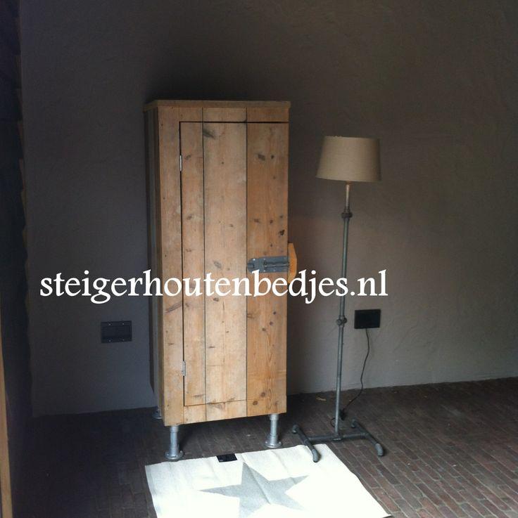 Kast passend bij onze kinderbedden van steigerhout - Modern kinderbed ...