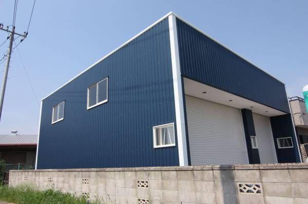かっこいい大型ガレージ 倉庫 ホビールーム付 茨城県小美玉市施工例