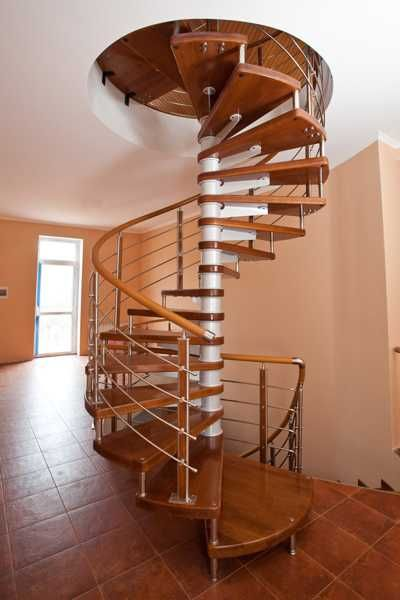 spiral stair made of wood