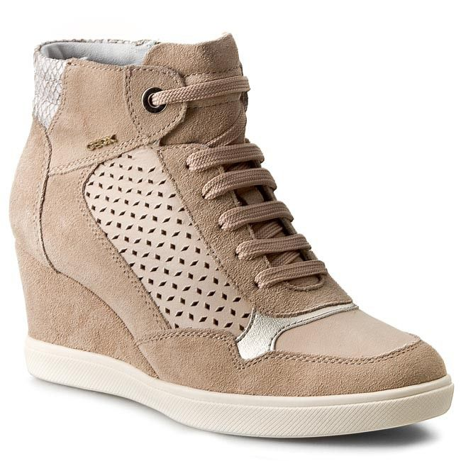 Sneakersy GEOX - D Eleni A D5267A 022CL C6369 Taupe/Beige