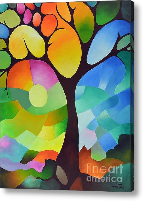 Dreaming Tree Acrylic or Canvas Print By Sally Trace