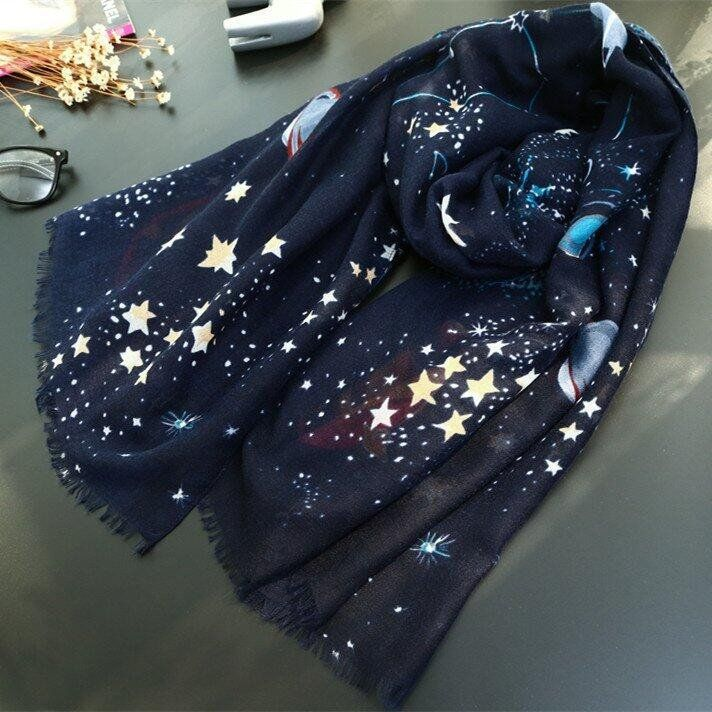 "Harajuku galaxy shawls scarf SE9448    Coupon code ""cutekawaii"" for 10% off"