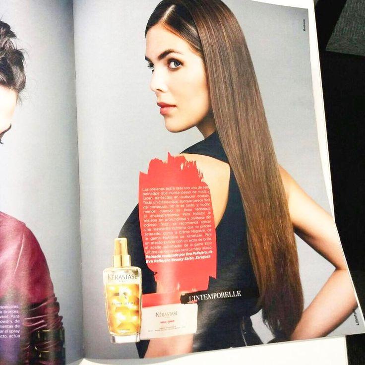 Qué ilusión nos hizo en el salón encontrarnos con @lour_homedes espectacular en la revista Lifestyle maquillada y peinada por #evapellejero 😍 😍  @lft_magazine #magazine #kerastase #melena #zaragoza #peluqueria Feliz cumpleaños Lourdes!!!❤️