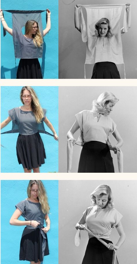Rétro Inspiré Wrap shirt Tutorial Harts fabric // blog sew your hart out