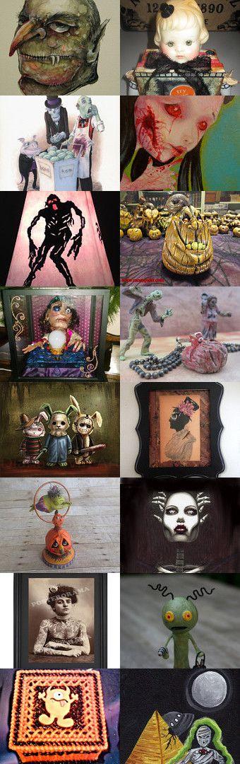 I Fink U Freeky!  by Jynxx on Etsy--Pinned with TreasuryPin.com #halloween #freak #goth #horror #halloweenartistbazaar