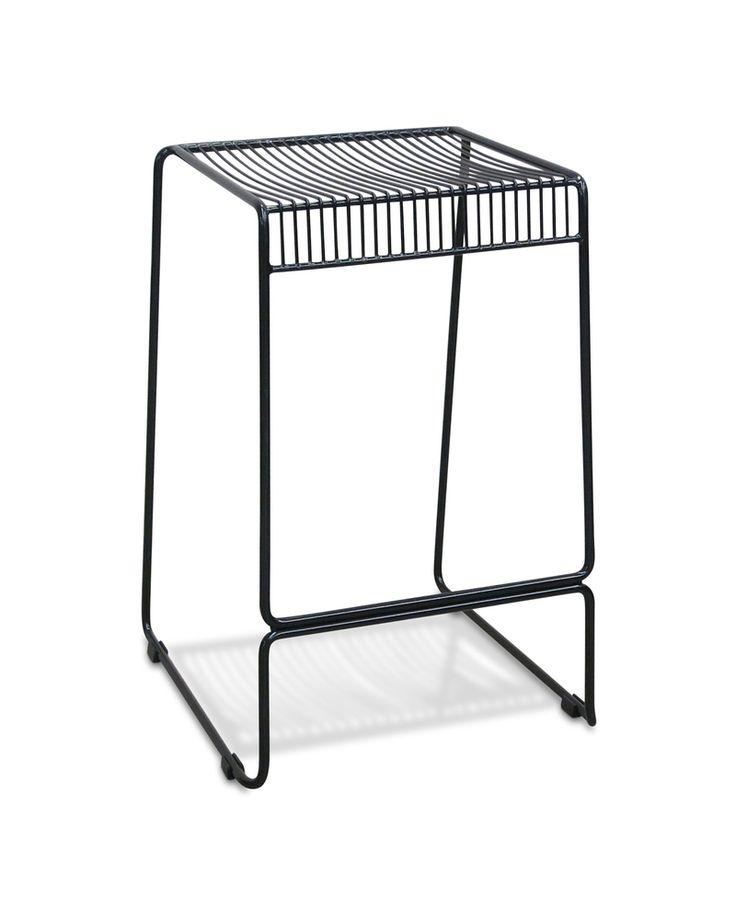 Pheonix wire bar stool - black, 75cm - Cintesi