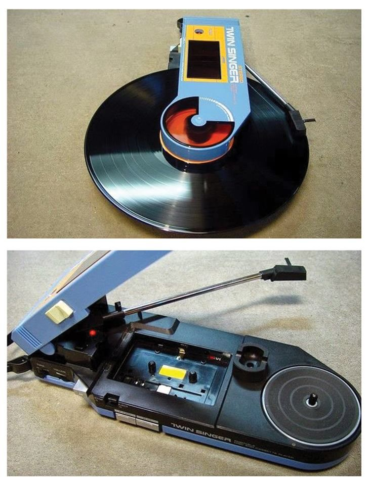 TWIN SINGER portable record player (Japan)...