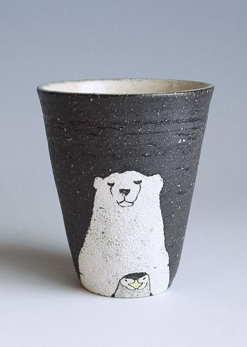 iichi - animal tumbler (Polar Bear & Penguin)