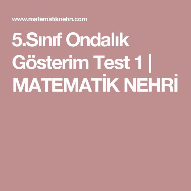 5.Sınıf Ondalık Gösterim Test 1 | MATEMATİK NEHRİ