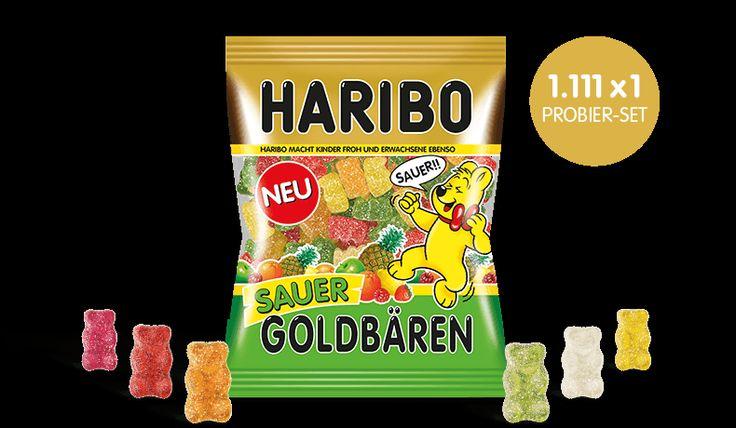 HARIBO Sauer Goldbären Probier-Set gewinnen