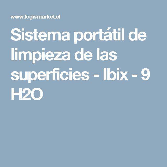 Sistema portátil de limpieza de las superficies - Ibix - 9 H2O