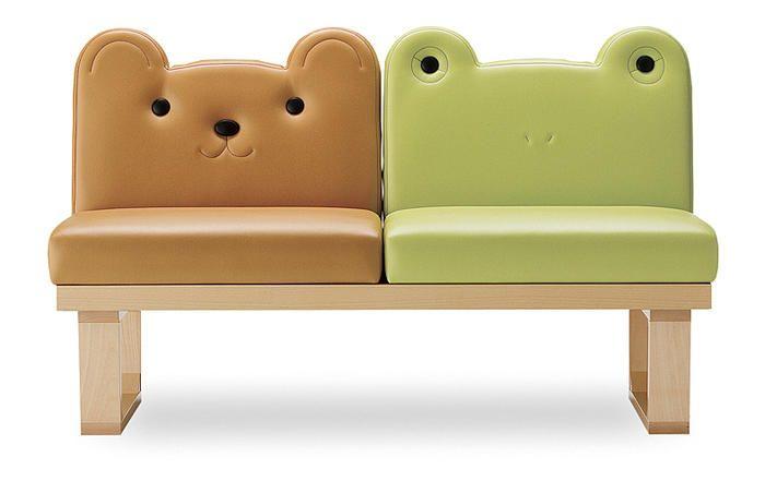 子供椅子・チェアのおすすめ商品一覧【HOME'S Style Market ... A-クマとカエル_ベンチ