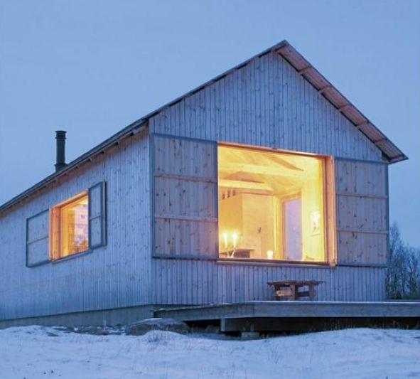 Norwegian Cabin by architects Aas/Thaulow.....er að spá í að fara í bústaðinn....hinn, minn...í draumaheiminum;)))