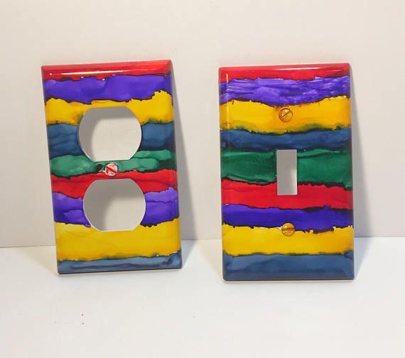 Rainbow Decor Switchplate Rainbow Switchplate Electric