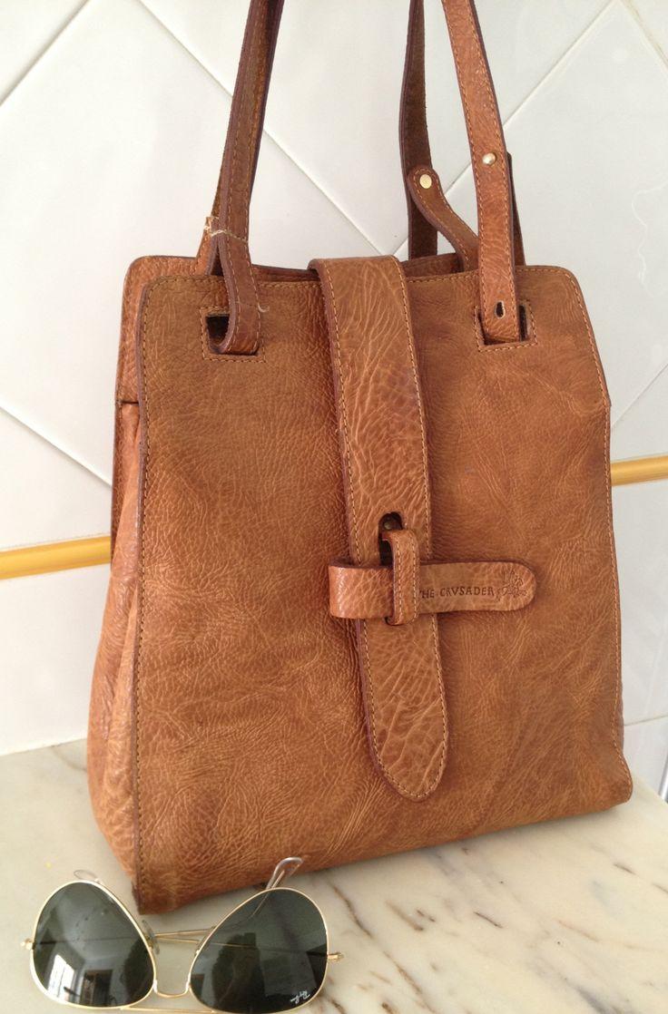 90's brown leather bag