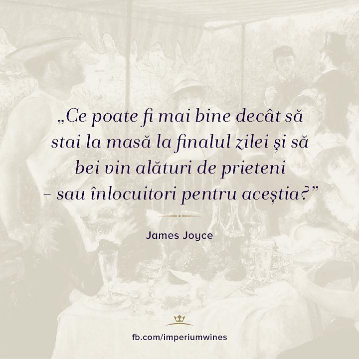 Pentru unul dintre personajele lui Joyce, vinul și o cină în mijlocul prietenilor constituie o plăcere greu de concurat.