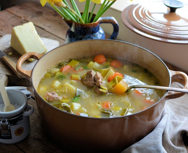 Welsh Cawl (Lamb & Vegetable Stew) - Cawl is often seen as being the national dish of Wales, my recipe is based on a traditional Welsh recipe for Cawl, but uses lamb steaks in place of a lamb joint, as was commonly used in times gone by. A bowl of cawl is usually accompanied by crusty bread and Caerphilly cheese.