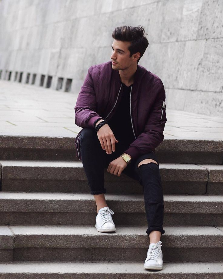 How To Wear A Bomber Jacket 7 Stylish Ways Men S Outfit Inspiration Mens Photoshoot Poses Fashion Poses Photography Poses For Men