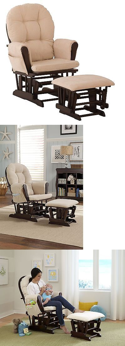 Baby Nursery: Stork Craft Hoop Glider And Ottoman Set Espresso Beige 1 Stork Craft -> BUY IT NOW ONLY: $111.54 on eBay!