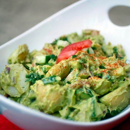 Creamy Avocado Potato Salad - Vegan