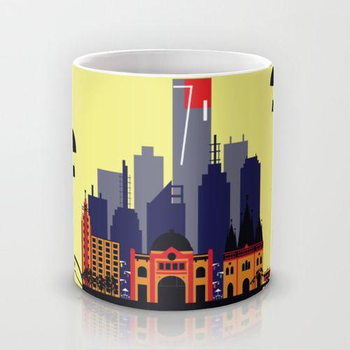 Lovely Melbourne Mug by Jollybird Designs   Society6 #lovely #melbourne #mug