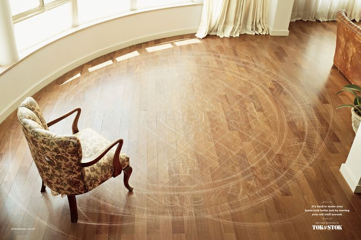 Tok: Scratched Floor, 1 by DDB, Brazil: Art Director, I Observed That The Agency, Cannes, Floors, Took Stok, Magazines, Rugs, I Noticed A Poster, Old Stuff