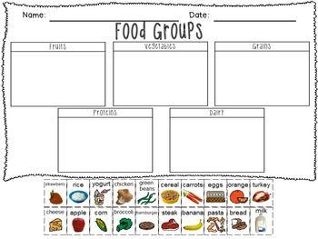 Food groups printable freebie!                                                                                                                                                                                 More