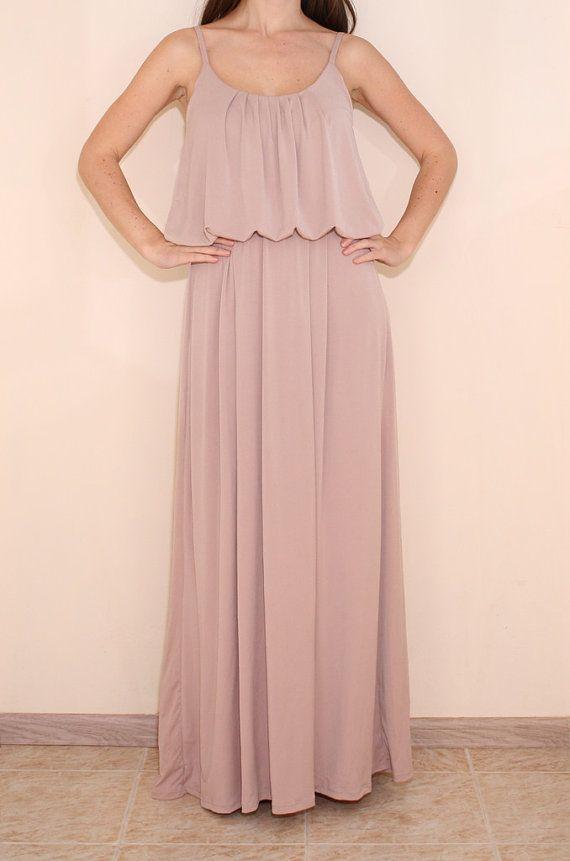 Blush maxi dress plus size