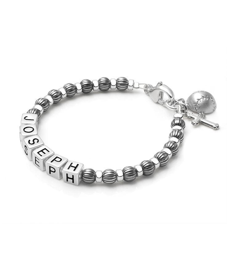 Boy S Oxidized Silver Baby Children S Name Bracelet Boys