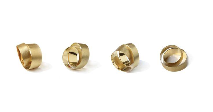 Josefine Mass - Twisted in Gold - jewellery - ring - www.josefinemass.com