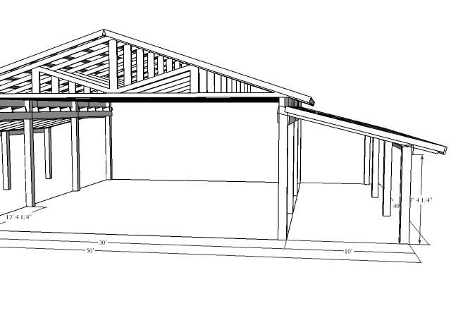 Pole barn designs pole barn http www harperfarms com for 40x50 shop cost