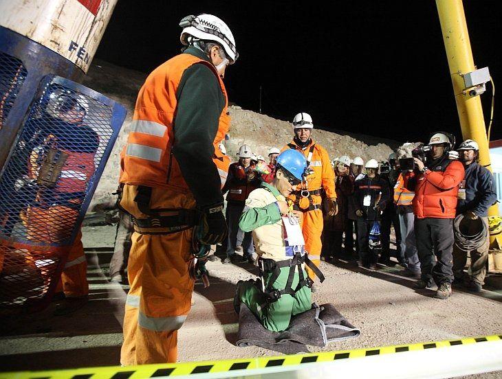 Rescate mineros chilenos. Octubre 2010