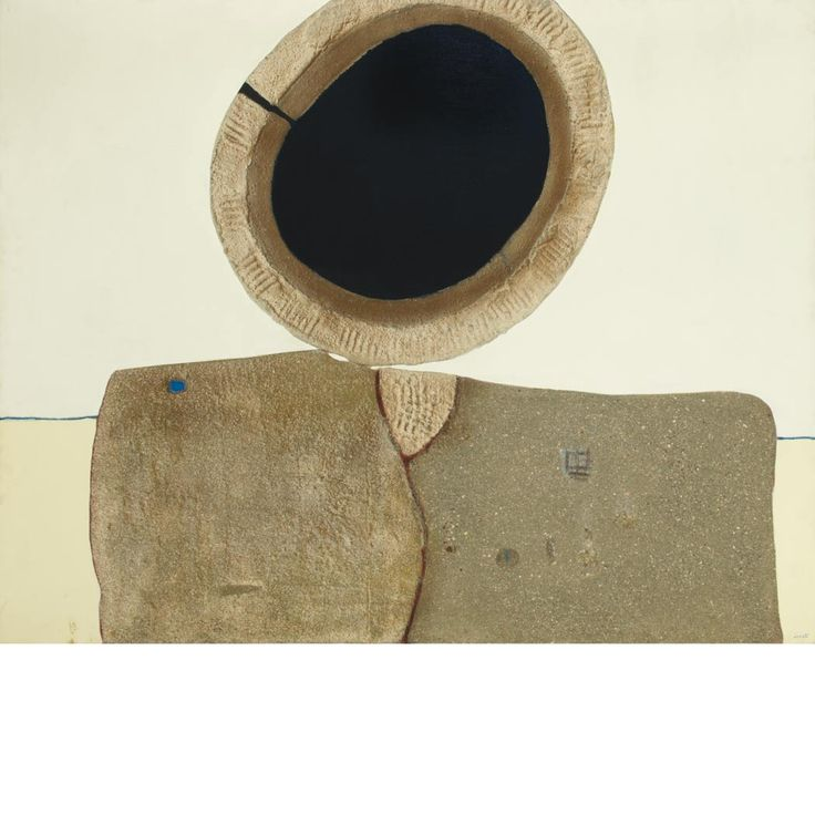 Enrico Donati: Magnet III, 1967, Oil and sand on canvas