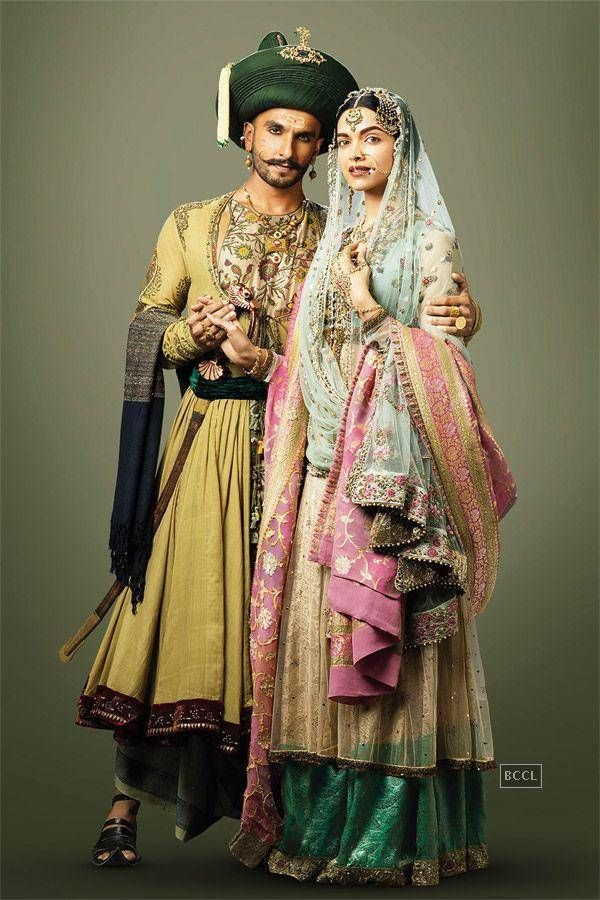 Ranveer Singh and Deepika Padukone in a still from Bollywood film Bajirao…