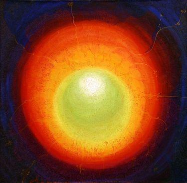 "Saatchi Art Artist Lola Lonli; Painting, ""Seven inside seven outside"" #art"