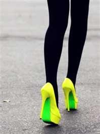 louboutin neon heels